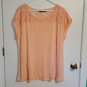 a.n.a women's 2X Creamsicle color t-shirt